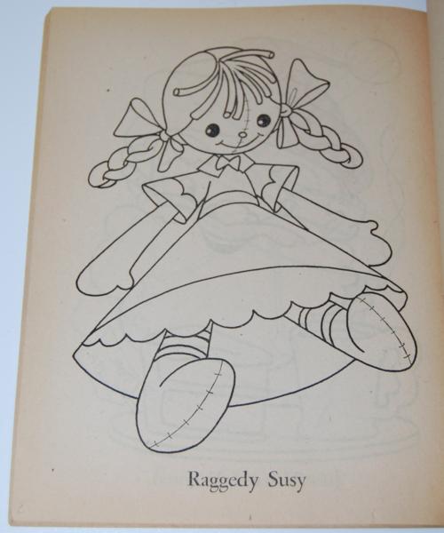 Dell 1953 santa claus coloring book 3