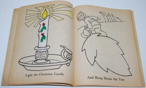Dell 1953 santa claus coloring book 6