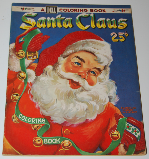 Dell 1953 santa claus coloring book