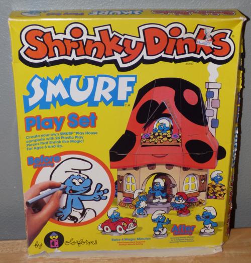 Smurf shrinky dink playset