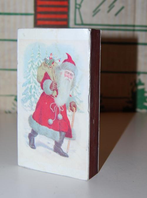 Christmas santa vlaus matchbox
