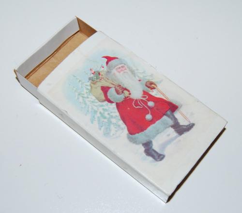 Christmas santa claus matchbox 1