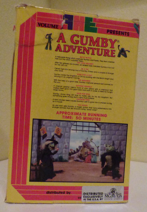 A gumby adventure 1 fhe vhs x