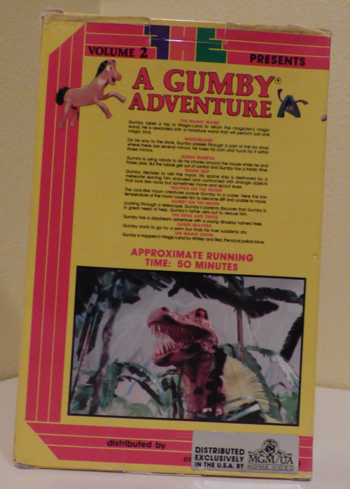 A gumby adventure fhe vhs x