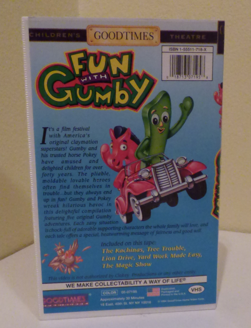 Fun with gumby 1 vhs x