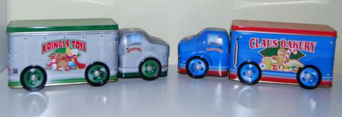Tin xmas trucks