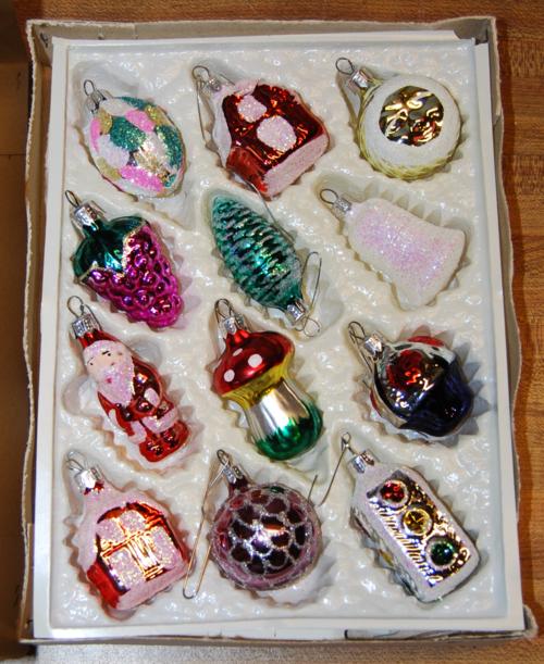 Vintage xmas ornaments
