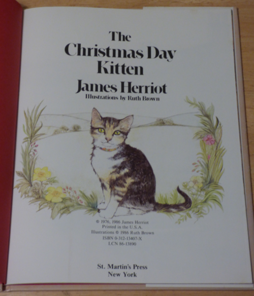 The xmas day kitten herriot 1