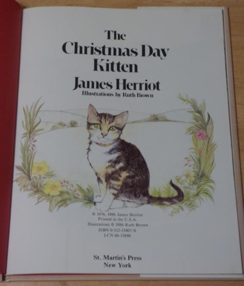The xmas day kitten herriot 1
