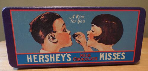 Hershey's kisses tin