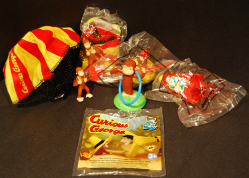 Curious george wendy's kids meal toys