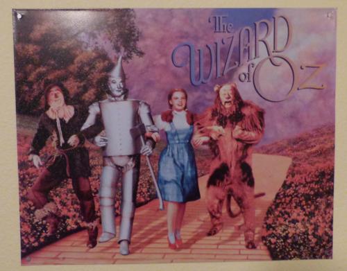 Wizard of oz movie tin sign