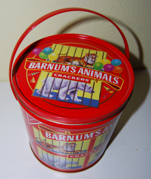 Barnum's animal crackers tin x