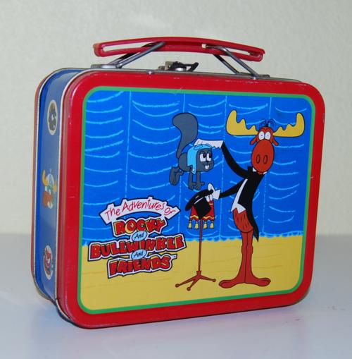 Rocky & bullwinkle tin lunchbox