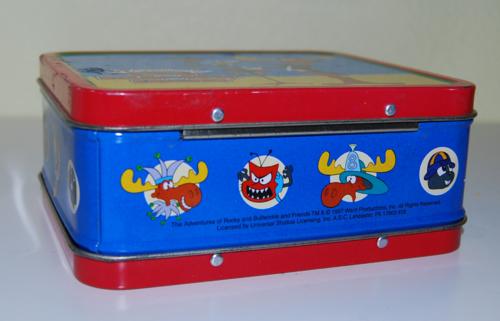 Rocky & bullwinkle tin lunchbox x