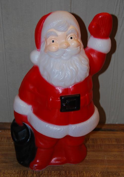 Vintage blowmold santa