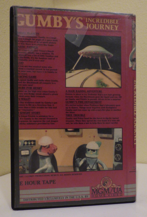 Gumby's incredible journey vhs x