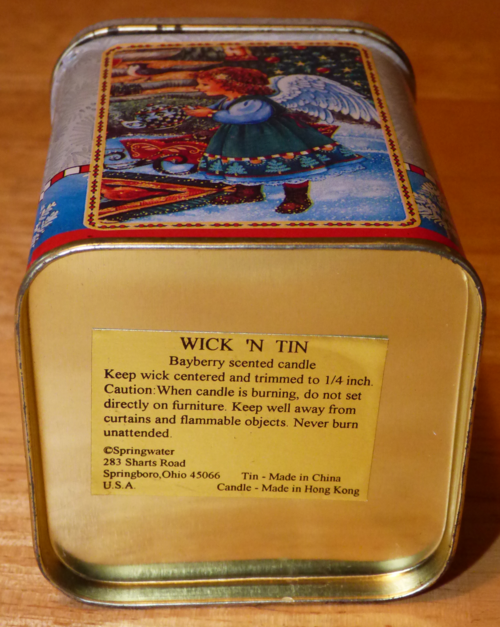 Bayberry candle tin x