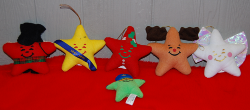 Carls jr star xmas ornaments