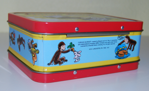 Curious george tin lunchbox x