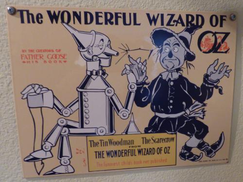 Wonderful wizard of oz retro sign