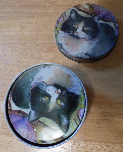 Tin kitty coasters x