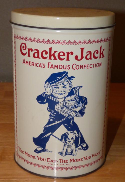 Cracker jack tin
