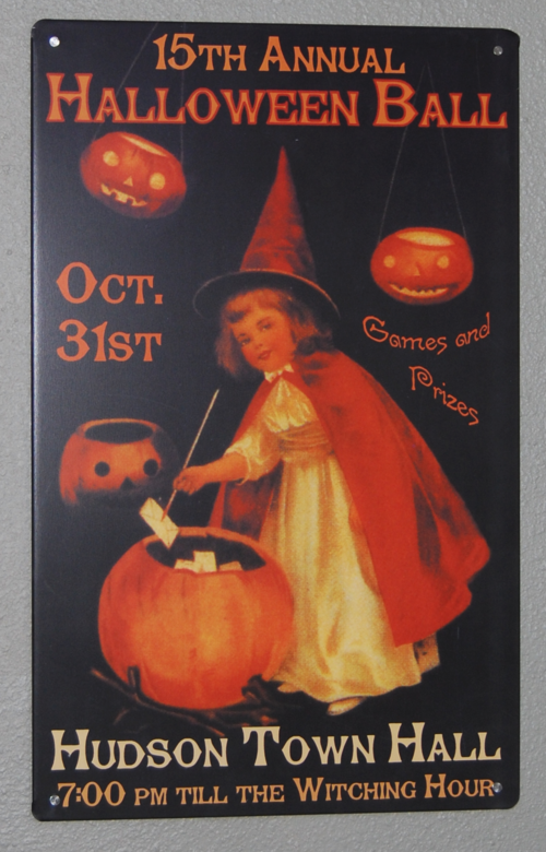 Halloween retro tin sign