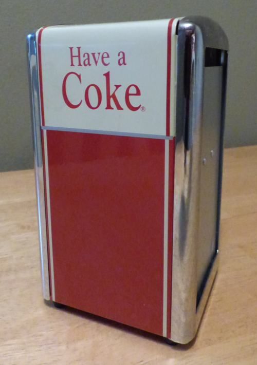 Retro coke napkin holder tin