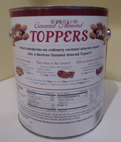 Toppers tin x