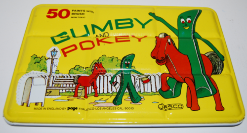 Gumby tin paint set page jesco
