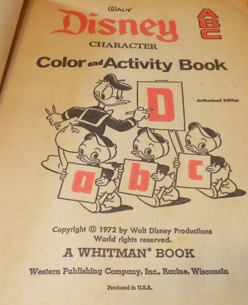 Disney coloring book 1