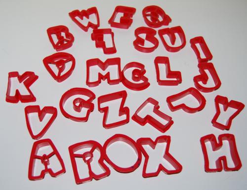 Jello jigglers letters