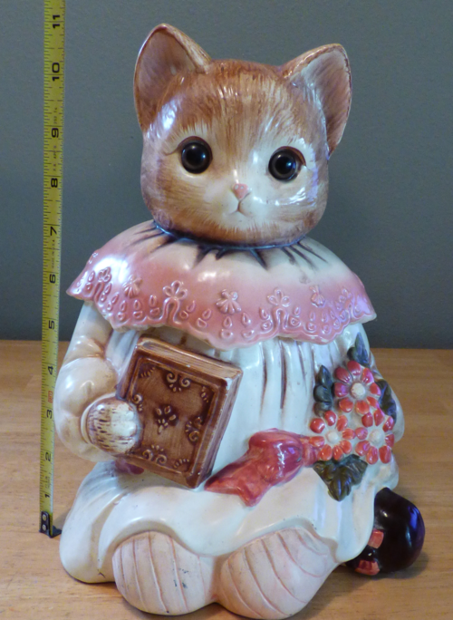 Vintage kitty cookie jar 5