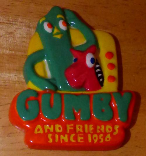 Gumby ceramic magnet