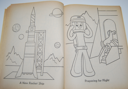 Gumby coloring book whitman 7