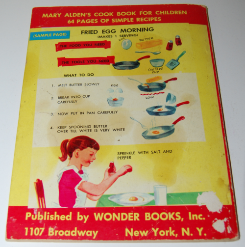 Mary alden's cookbook for children 1