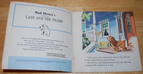 Disney book record lady tramp 1