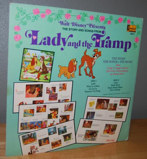 Disney lady & the tramp vinyl lp x