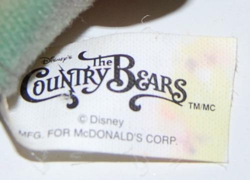 Disnet country bear jamboree toys x