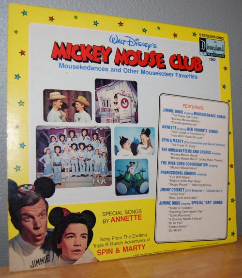 Disney mickey mouse club vinyl lp x