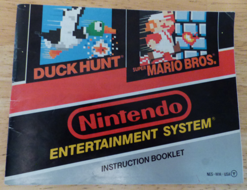 Nes instruction booklet