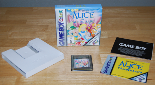 Alice in wonderland gameboy color game