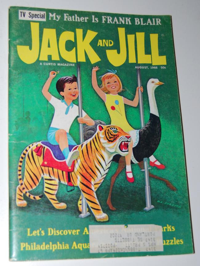 jack & jill magazine ~ august 1966