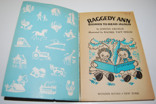 Vintage raggedy ann stories wonder book 1
