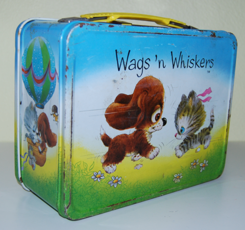 Wags & whiskers thermos tin lunchbox