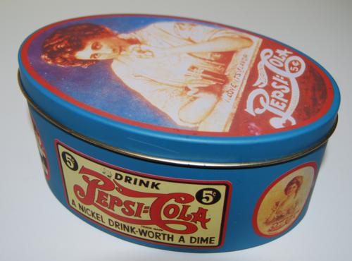 Pepsi oval tin 1