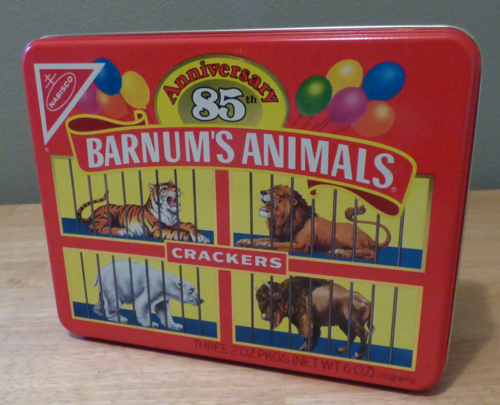 Barnum's animal crackers 85th anniversary tin