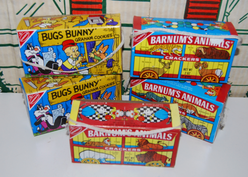 Vintage barnum's animal crackers boxes