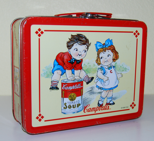 Campbell's tin lunchbox